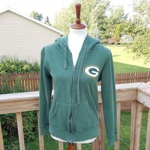 NFL Team Apparel Green Bay Packers Zip Up Hoodie